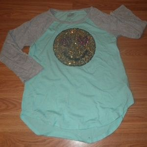 Girl's cute sequenced shirt size 16